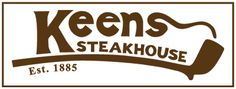 Keens Steakhouse . . . Since 1885. One of my favorite places for steak. I discovered it on a cold blistery night circa 2000 and I must have eaten here at least once a month until 2006. Its a must try in NYC. Ceiling covered with smoking pipes as thats how they stored them in the 1800s. Too delicate to travel.  The food is delectable. The staff are charming and full of stories. Miss this place to bits.
