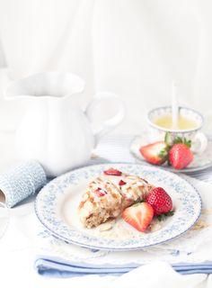... strawberry scones ...