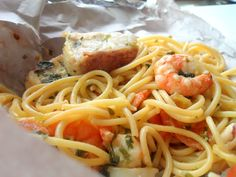 frozen wings: Seafood Pasta En Papillote