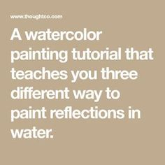 This watercolor painting tutorial teaches you three different ways to paint reflections in water featuring a windmill painting by artist Andy Walker. Watercolor Water, Watercolor Tips, Watercolour Tutorials, Watercolor Artists, Watercolor Techniques, Watercolor Landscape, Watercolour Painting, Watercolors, Art Techniques