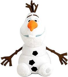 Disney Store Large/Jumbo 22 Olaf the Snowman Plush Stuffed Toy Doll from Frozen, Polyester H (seated, H with decoration) Imported Brand new w/tag, Puppets Disney Frozen Olaf, Disney Plush, Disney Toys, Baby Disney, Disney Princess, Cadeau Disney, Frozen Snowman, Olaf Snowman, Frozen Dolls