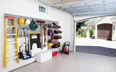 Hanging organization ideas for garage