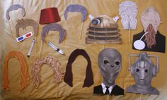 DIY 16 piece Dr. Who inspired Photo Booth Props (printable)