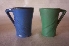 Catalina Island Pottery #89-1-DA CHOCOLATE MUG SWIRL PATTERN