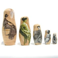 decoupaged nesting dolls