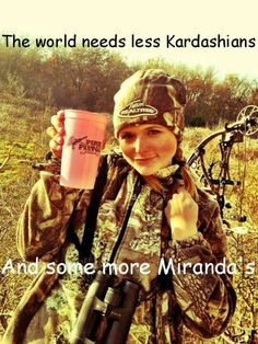 The world needs less Kardashians... and more Miranda Lambert's ....