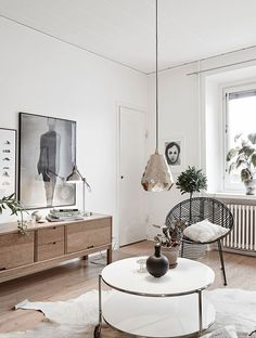 Scandinavian home - lounge - wood - white tones - nordic style