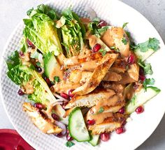Marinate chicken breasts, then drizzle with a punchy peanut satay sauce for a no-fuss, midweek meal