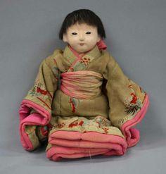 市松人形 明治期 Japanese Traditional Dolls, Japanese Doll, Ichimatsu, Chinese Dolls, Doll Japan, Asian Doll, Vintage Boys, Wooden Dolls, Japan Art
