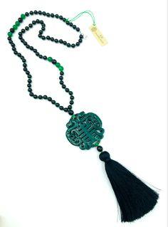 #amulette #necklace #stones #cristal #gemme #jade - La collection Jade est composée de pierres semi-précieuses Collection Jade :: creation-aum #Les Collections AUM :: creation-aum.com