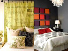 Decore sua casa | Cabeceira para a cama de casal | Casando Sem Grana