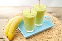 Avocado smoothie met banaan en sinaasappel