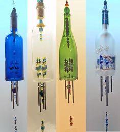 Bottle Windchimes. I soooo want to make these!!!