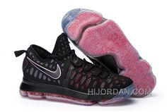 quality design a4d68 f1abf Nike KD 9 Black Red Mens Basketball Shoes Discount FJjBy
