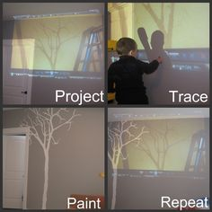 how to project an image on the wall without a projector good to