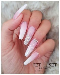 48 cute and lively pink solid color bride nails suitable for any place page 45 of 48 00151 com is part of nails - nails Perfect Nails, Gorgeous Nails, Pretty Nails, Pink Acrylic Nails, Gel Nails, Coffin Nails, Stiletto Nails, Wedding Acrylic Nails, Nail Polish