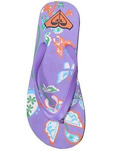 e62b3db5b9c6 Roxy Womens Rubber Thongs Sandals Beach Flip Flop Slippers US8 UK6 EU3839  Multicolor -- Learn