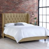 Found it at AllModern - Wingback Linen Bed