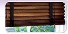 SUPERIOR MADE TO MEASURE WOODEN VENETIAN BLIND WALNUT WITH TAPES REAL WOOD 50MM