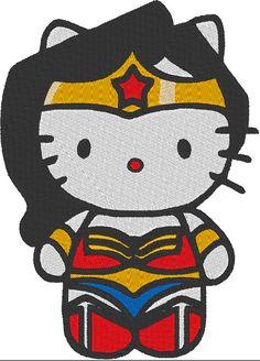 Hello Kitty Wonder Woman Filled Machine by EmbellishStar on Etsy, $2.00