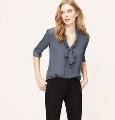 Dotted Bow Neck Blouse Ann Taylor has up to size 18 (only up to 16 in petite)  Recommended to me by a short, curvy, stylish administrator for tops and coordinating pieces as well as jewelry