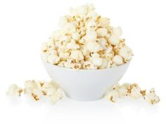 Popcorn : Popcorn is actually a whole grain and it's high in antioxidants. Since the kernels pop up so big, you get 3 1/2 cups in a 1-ounce serving (if you air pop it, that clocks in at 110 calories and 4 grams of fiber).