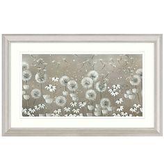 Buy Kaye Lake - Day Dreaming Dandelions Framed Print, 110.5 x 55.5cm Online at…