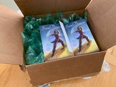 Look! Books! There's nothing more exciting for a writer than getting to hold their book for the first time.