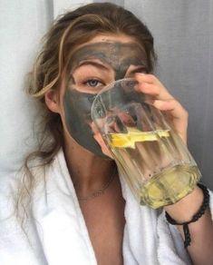 Facemask + lemon water in 2020 Beauty Skin, Hair Beauty, Insta Photo Ideas, Lemon Water, Self Care, Photography Poses, Beauty Hacks, Beauty Tips, Photoshoot