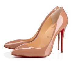 eba3401696ad Pigalle Follies 100 Nude Patent Leather - Women Shoes - Christian Louboutin
