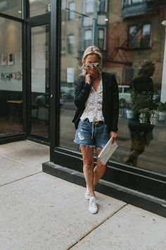 How to Make Your Denim Shorts Look More Chic - Never Without Navy