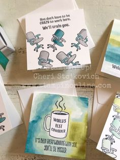 Welcome to the Team! A Pizza Box full of Office Notecards Welcome To The Team, Welcome Packet, Craft Cards, Some Cards, Little Boxes, Stamp Sets, Stamping Up, Card Designs, Stampin Up Cards