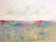 Colorful Large Abstract Landscape Original by lindadonohue on Etsy
