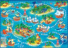 Main %d0%ba%d0%b0%d1%80%d1%82%d0%b0 %d0%93%d0%95%d0%9e Games For Kids, Activities For Kids, Speech Therapy Games, Board Game Design, Board For Kids, Boy Images, Alphabet Coloring, Pirate Party, 5 Year Olds