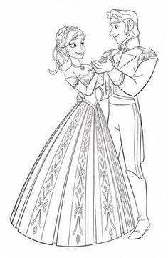 disney frozen coloring pages | Walt Disney Coloring Pages - Princess Anna Prince Hans - walt-disney ...