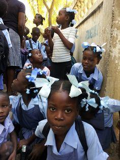 Haitian Children - School