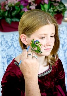 Another dragon face painting option.