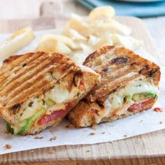 this was sooo good. only used 1 avocado though an… Grilled Tuscan Chicken Panini.this was sooo good. only used 1 avocado though and mayo with olive oil. only tsp salt Panini Sandwiches, Grilled Sandwich, Soup And Sandwich, Wrap Sandwiches, Pressed Sandwich, Grilled Avocado, Grilled Chicken Sandwiches, Panini Sandwich Recipes, Sandwich Recipes