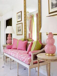 Pink Color Schemes Offering Symbolic and Romantic Interior Design . Room Interior Design, Modern Interior, Interior Decorating, Decorating Ideas, Decor Ideas, Gold Rooms, Gold Bedroom, Pink Color Schemes, Romantic Room
