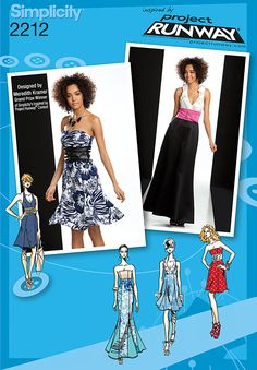Simplicity pattern 2212: Misses' Dresses. Project Runway Collection. Dress pattern.