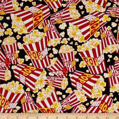 Designed by Maria Kalinowski for Kanvas in association with Benartex, this cotton print is perfect for quilting, apparel and home decor accents. Colors include red, white, yellow, and black.