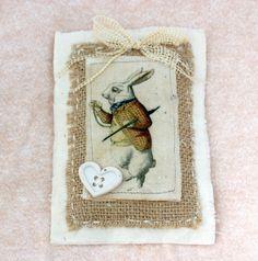 White Rabbit Alice in Wonderland Rose Scented by tatteredtiaras, $5.95