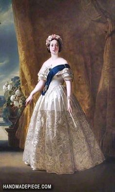 Queen Victoria (after Franz Xaver Winterhalter) Oil Painting Reproduction on Canvas By William Corden the Elder Victoria Queen Of England, Queen Victoria Albert, Queen Victoria Family, Victoria Reign, Franz Xaver Winterhalter, Oil Painting Gallery, Royal Queen, British Royal Families, Art Uk