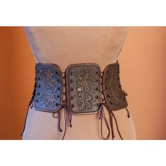 Leather Medieval Women Half Underbust Body Corset Belt Fetish Handmade... ($158) ❤ liked on Polyvore featuring accessories, belts, leather belts, corset belt, real leather belts, cowgirl belts and leather corset belt