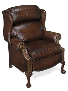 Bradington-Young's MAXWELL BALL AND CLAW RECLINING WING CHAIR W/BRASS NAILS | 4115