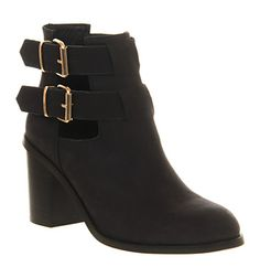 Office Understanding Black Nubuck - Ankle Boots