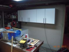 Step 2) All of the wall cabinets are mounted