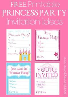 free printable princess birthday invitation template & cupcake, Invitation templates