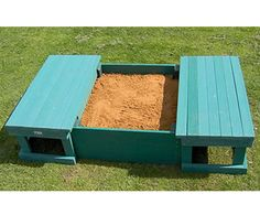 Sandbox w/ sliding bench seat cover