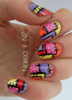 Tutorial: Patchwork Nail Art Design - Click the Image for the Tutorial!